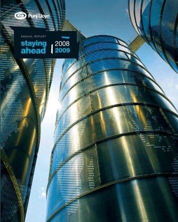 Annual Report 2008 - 2009 - Punj Lloyd Group