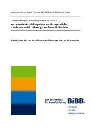 BIBB-Erhebung über neu abgeschlossene Ausbildungsverträge ...