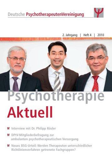 2. Jahrgang   Heft 4   2010 Interview mit Dr. Philipp Rösler DPtV ...