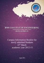 Campus Information - BMS College of Engineering