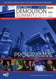 ProGrAmme - European Demolition Association — EDA