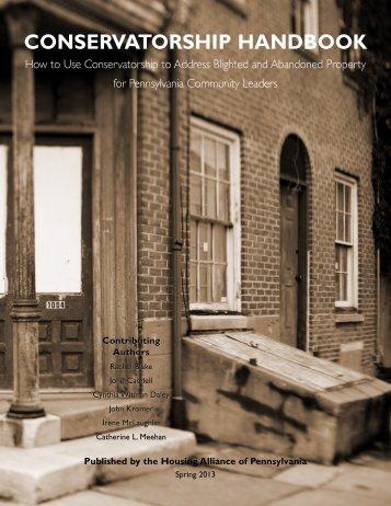 conservatorship handbook - Housing Alliance of Pennsylvania