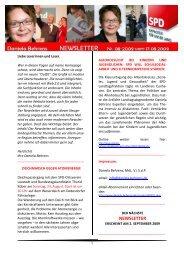 Newsletter 08-2009 - Daniela Behrens
