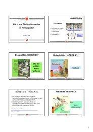 Hör- und Bildschirmmedien - Kindergarten und Schule in Südtirol