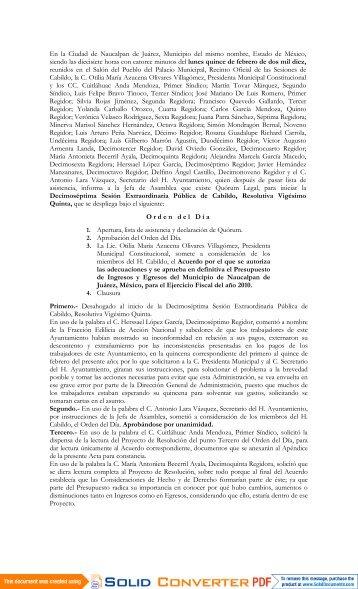 17ª Extraordinaria, Resolutiva 25ª - Transparencia Naucalpan