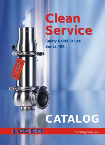 LESER Clean Service Safety Valve Catalogue - Pressure Systems