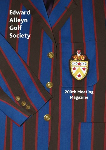 Edward Alleyn Golf Society - Alleyn's School