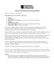 2011 Executive Committee Roles and Responsibilities - Mississippi ...