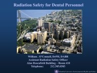 Radiation Safety for Dental Personnel - Environmental Health ...