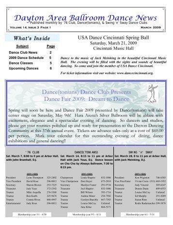 1303 March2009 Newsletter - Ballroom Dance Dayton