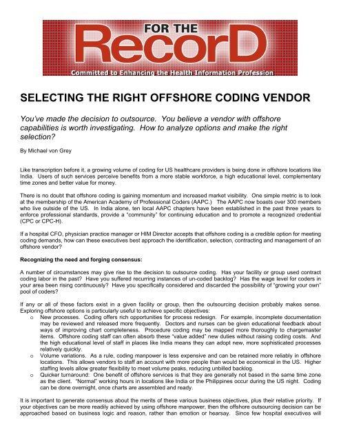 FTR-050606-Selecting-an-Off-Shore-Coding-Vendor