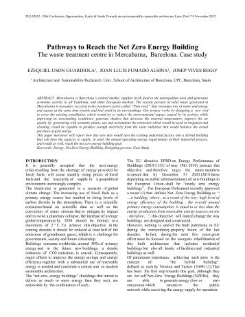 Pathways to Reach the Net Zero Energy Building - 28th international ...