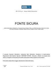 FONTE SICURA - Popolare vita
