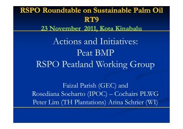 Peat BMP - RT9 2011 - Roundtable on Sustainable Palm Oil