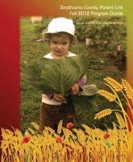 Strathcona County Parent Link Fall 2012 Program Guide