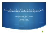 Computational Analysis of Nitrogen Radicals ... - Chem.hope.edu