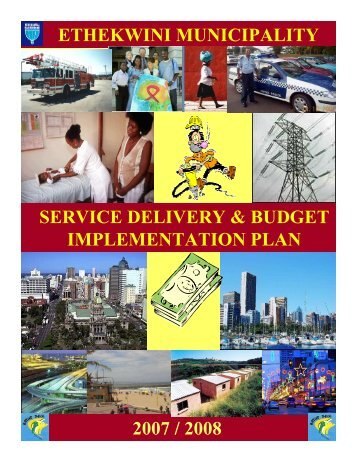 Approved Service Delivery & Budget Implementation Plan ... - Durban