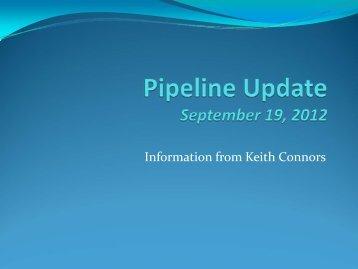 Pipeline Update September 19, 2012