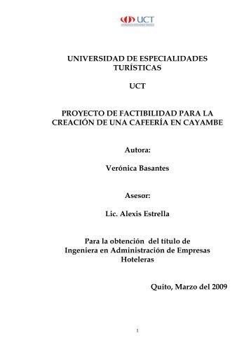 Proyecto La Covacha 2009.pdf - Repositorio Digital UCT ...