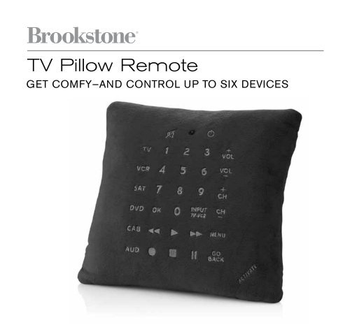 TV Pillow Remote - Brookstone