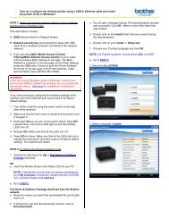 How do I configure the  wireless printer using a USB or ... - Brother
