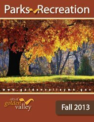 Fall 2013 Park & Rec catalog - City of Golden Valley