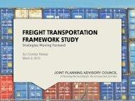 Freight Transportation Framework Study: Strategies Moving Forward ...