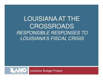 Presentation at LANO member meeting in Baton Rouge, February 5 ...