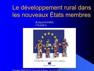 Le développement rural dans les NEM - partie 1