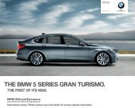 THE BMW  SERIES GRAN TURISMO.
