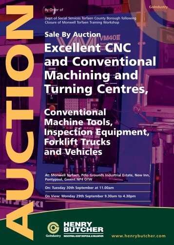 Excellent CNC and Conventional Machining and Turning Centres,