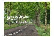 Demographischer Wandel im ländlichen Raum - LEADER Kamptal ...