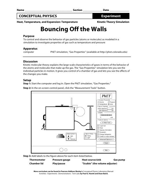 Bouncing Off the Walls pdf - PhET