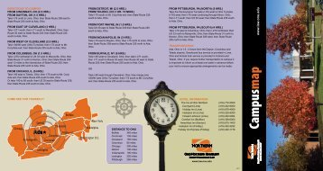 Campus map - Ohio Northern University Pettit College of Law