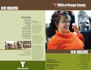 New Horizons Brochure - YMCA of Orange County