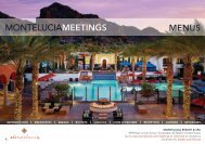 Banquet Menus - Montelucia Resort & Spa