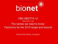 CBD SBSTTA-12 The names we need to know: Taxonomy ... - BioNET