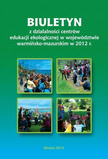 Sprawozdanie z działalności centrów edukacji ekologicznej na ...
