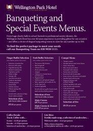 download our menus here - Wellington Park Hotel