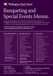 download our menus here - Wellington Park Hotel