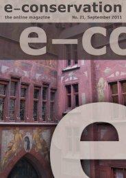 e-conservation the online Magazine 21, sept 2011.pdf