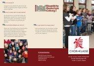 Informationen zu unserer Chorklasse neu ab Schuljahr 2013/14