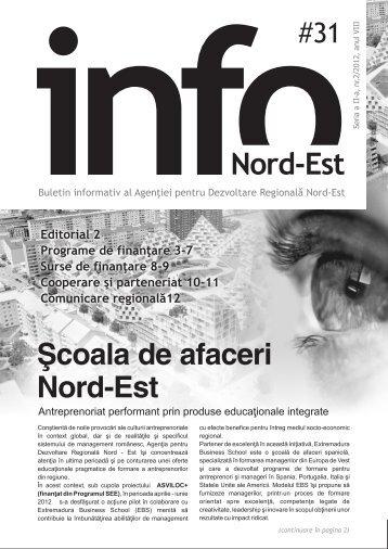INFO Nord-Est, nr. 31 / 2012 - Agentia pentru Dezvoltare Regionala ...