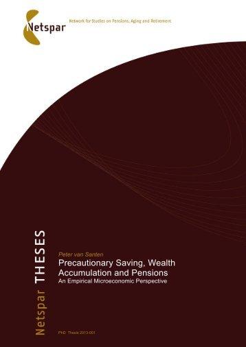 Precautionary Saving, Wealth Accumulation and Pensions