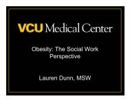 Obesity: The Social Work Perspective - Virginia Commonwealth ...