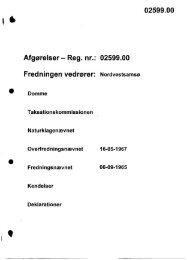 Afgørelser - Reg. nr.: 02599.00 Fredningen vedrører ... - Naturstyrelsen