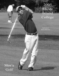 Golf - Rhode Island College Athletics