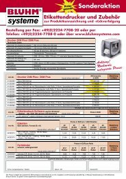 +49(0)2224-7708-20 oder per Telefon: +49(0) - Bluhm Systeme GmbH