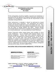 Manual for hand portable Halon 1211 - Amerex Corporation