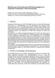 Modellierung und Simulation der ESD - TU Dortmund